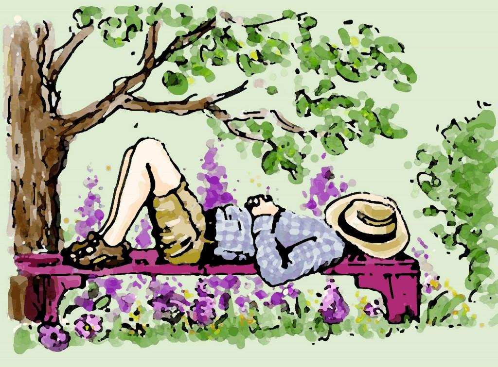 Garten für intelligente Faulpelze