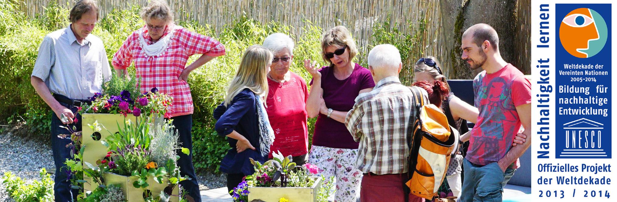 Der Paradiesgarten wurde als herausragendes Projekt und für seine Bildungsarbeit ausgezeichnet.
