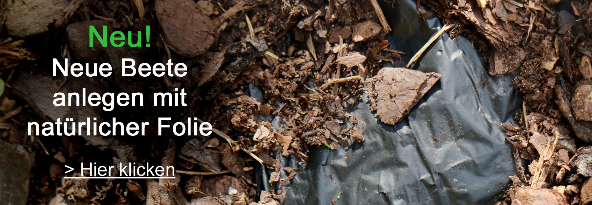 Natürliche Mulchfolie für Beete