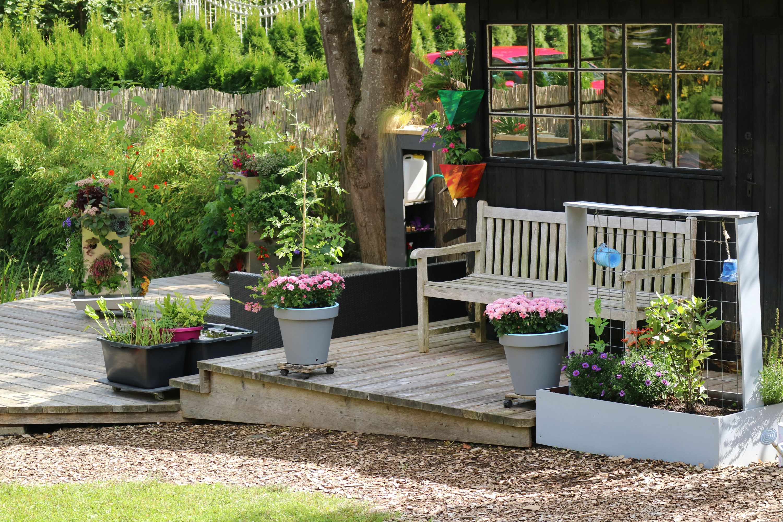 Kleiner Garten auf der Terrasse