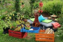 Kleine Gärten gestalten, gemütlicher Sitzplatz